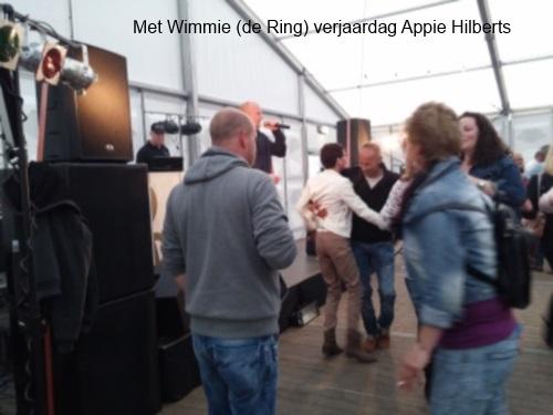 Met Wimmie (de Ring) bij Appie Hilberts